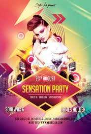 party flyer free modern party flyers templates design graphic design junction