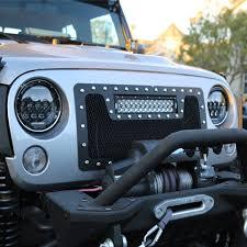 led lights for jeep wrangler tuff stuff led headlights 7 low high beam 75 watts pair jeep