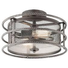 shop kichler lighting ramida 14 33 in w antique steel metal semi
