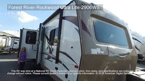 rockwood floor plans new 2018 forest river rv rockwood ultra lite 2906ws travel trailer