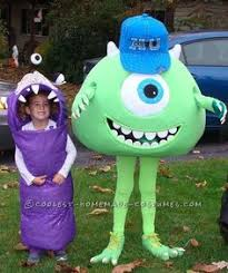 Cool Boys Halloween Costumes Coolest Homemade Mike Wazowski Unique Boy U0027s Halloween Costume Idea