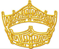 instant pageant crown embroidery design
