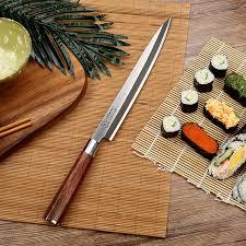 couteaux de cuisine professionnels sunnecko 10 5 pouce professionnel sashimi cuisine couteau japonais