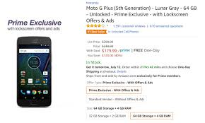 amazon black friday unlocked phone deals deal alert prime exclusive moto g5 plus on sale for 30 60 off
