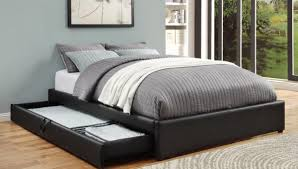 Queen Platform Bed With Storage Plans by Black Queen Platform Beds With Storage Compartment Bedroom Ideas
