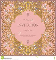 Indian Invitation Card Wedding Invitation Or Card With Abstract Background Stock Photo