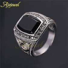 aliexpress buy mens rings black precious stones real gold rings for men with