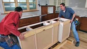 how to kitchen island awesome installing kitchen island cabinets how to install a