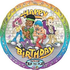 singing birthday balloons singing balloon rappers happy birthday balloon for you