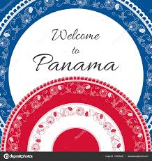 Welcome Flag Welcome To Panama Vector Illustration Travel Design With Floral