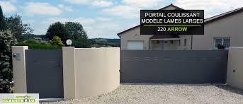 Portail Alu Coulissant Pas Cher by Portail Design Coulissant Aluminium Prix Direct Usine Claustralu