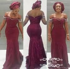 plus size burgundy lace prom dresses 2018 brazil african women