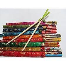 hair chopsticks 2 pairs style bamboo hair chopsticks with silk cover