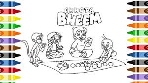 coloring chhota bheem staying coloring pages wecoloringpage