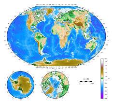 Venezuela Location On World Map by Large Detailed Physical Map Of The World Large Detailed Physical