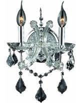 Crystal Candle Sconce Bargains On Maria Theresa Imperial 2 Light Golden Teak And Crystal