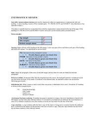 business memo format sample interoffice memo in word