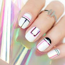 geometric nail design sonailicious sonailicious