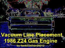 vacuum line placement 1986 z24 gas motor nissan forum nissan
