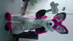 Birthday Suit Halloween Costume by Aliexpress Com Buy Oisk Purple Husky Fursuit Dog Fox Mascot