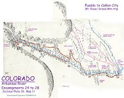 Map Of Colorado Rivers by Zebulon Pike Educational Material Pike National Trail