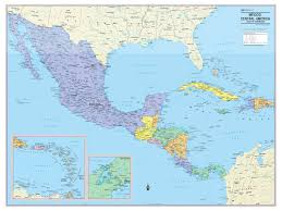 Map Of Caribbean And Central America by Wall Maps Posters Cool Owl Maps Mexico Central America And