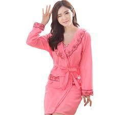 robe de chambre hiver fasbys femmes automne hiver chemise de nuit de nuit robe de chambre