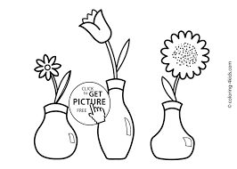 flowers coloring pages for kids printable 4