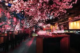 cherry blossom trees in a basement bar s most beautiful