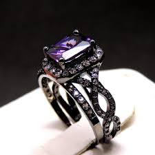 black and purple engagement rings absolutely gorgeous black and purple engagement ring