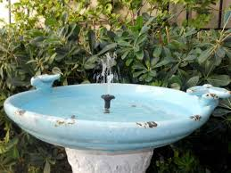 attractive bird fountains for garden and home decorating idea