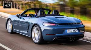porsche graphite blue 2017 porsche 718 boxster graphite blue metallic test drive hd
