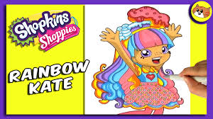 shopkins coloring pages videos shopkin coloring pages shoppies coloring rainbow kate youtube