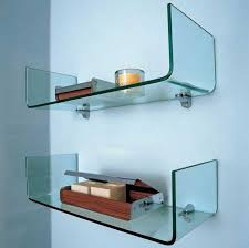 Wall Mounted Bathroom Shelves Wall Shelves For Bathroom With Wall Mounted Curved Glass