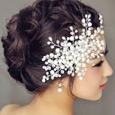 hair ornaments women headbands comb bridal hair accessories clear