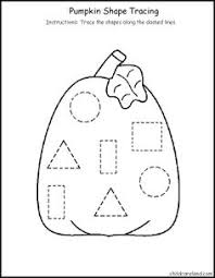 big shape tracing shape pumpkins and pumpkin printable
