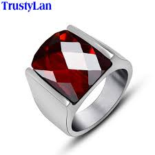 mens silver rings trustylan 2018 fashion new rings for men silver color