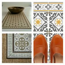 Decorative Vinyl Floor Mats tiles pattern decorative pvc vinyl mat linoleum rug color ocher