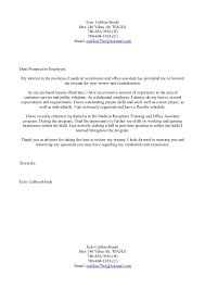 Sample Cover Letters Medical Receptionist   Free Cover Letter     Medical receptionist
