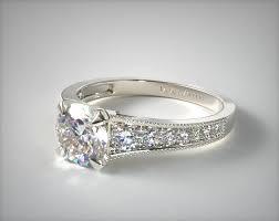 milgrain engagement ring taper milgrain engagement ring 14k white gold