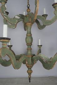Painted Chandelier Two Tier Italian Style Painted Chandelier Levinson Antiques