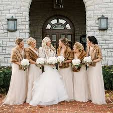 fur shawls for bridesmaids 17 bridesmaid style ideas for a winter wedding stayglam