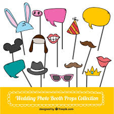 Wedding Photo Props Hand Drawn Wedding Photo Booth Props Collection Vector Free Download