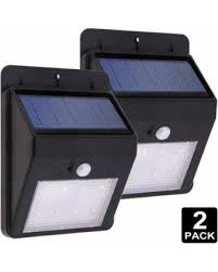 Motion Activated Outdoor Wall Light Amazing Holiday Shopping Savings On 2 Pack Led Solar Powered