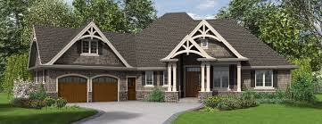 the ripley single story craftsman house plan with tons of single