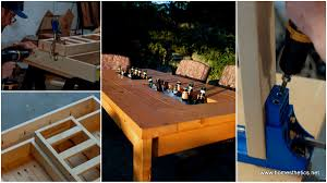 Build Patio Table How To Build A Diy Patio Table With Built In Wine Coolers