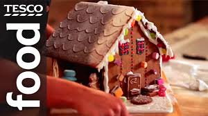 how to make a gingerbread house tesco food youtube