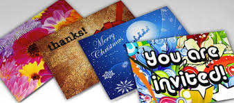 custom printed greeting cards for special events thank you cards