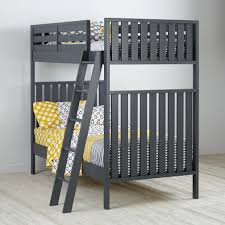pictures of bunk beds for girls cargo charcoal twin bunk bed the land of nod