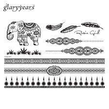 1 piece black mixture pictures flower lace henna tattoo design